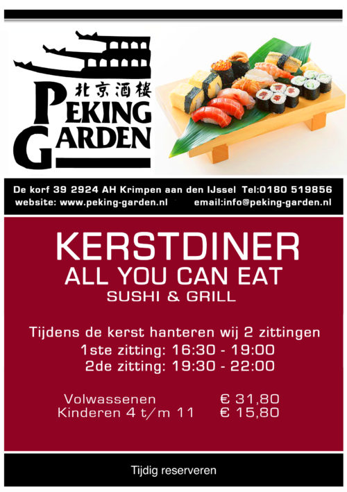 Kerst 2012- all you can eat sushi& grill A5